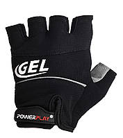 Велоперчатки PowerPlay S Черные 1058SBlack, КОД: 977459