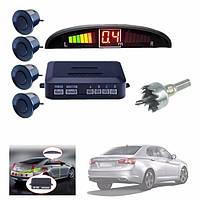 Парктроник автомобильный UKC на 4 датчика + LCD монитор (черные датчики)