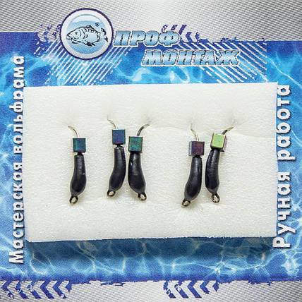 Мормышка вольфрамовая |935| Уралка с кубиком хамелеон 3 0,6g, фото 2