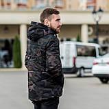 Чоловіча зимова куртка, кольору камуфляж., фото 6