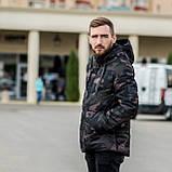 Чоловіча зимова куртка, кольору камуфляж., фото 2
