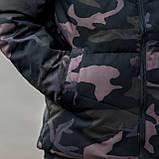 Чоловіча зимова куртка, кольору камуфляж., фото 5