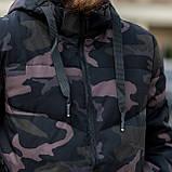 Чоловіча зимова куртка, кольору камуфляж., фото 3