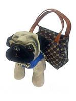 Собака Мопс BT-T-0139 в сумке, мягкая (4 цвета)
