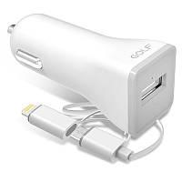 Автомобильное зарядное устройство GOLF GF-C3 LIGHTNING / MICRO USB 2.2A