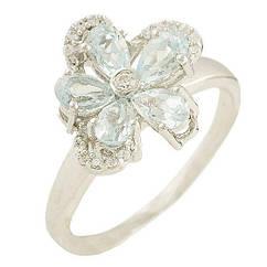 Серебряное кольцо Silver Breeze с натуральным топазом 17 размер 1183564, КОД: 1193960