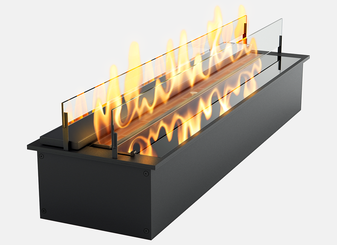 Дизайнерський біокамін Gloss Fire Slider color glass 800