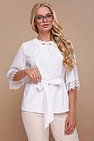 Блуза GLEM Карла-Б XXL Белый GLM-bl00039, КОД: 1127645