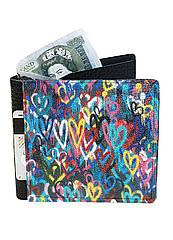 Кошелек кожаный DevayS Maker DM 14 Разноцветные Сердца Разноцветный 30-0114-465, КОД: 1239094