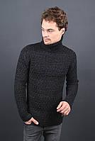 Мужской теплый свитер под горло 7013 размер XL