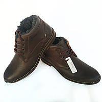 Кожаные зимние ботинки Polbut на меху