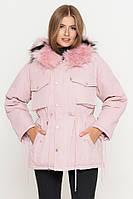 Стильная женская куртка розовая(пудра) KIRO TOKAO (Разм50 (L) )