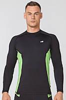 Мужской спортивный лонгслив Radical Fury Duo LS XXL Черно-зеленый r0540, КОД: 1191631
