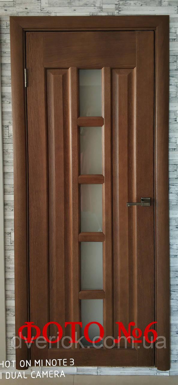"""Дверной блок """"Турин"""" натуральный шпон (в комплекте с коробкой, наличниками и фурнитурой)"""