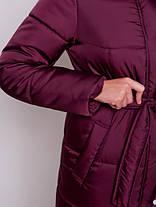 Зимнее стеганое пальто пуховик женский размер от 42 до 50, фото 3