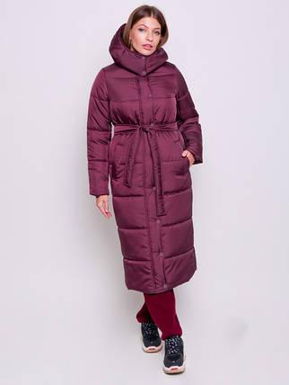 Зимнее стеганое пальто пуховик женский размер от 42 до 50, фото 2