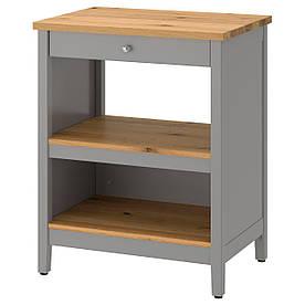 IKEA TORNVIKEN Кухонний острівець, сірий, дуб (203.916.58)