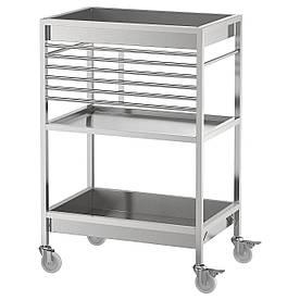 IKEA KUNGSFORS Столик на колесах, нержавіюча сталь (803.349.24)