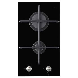 IKEA MOJLIG Газова варильна панель, 2 пальника, чорна (802.371.50)