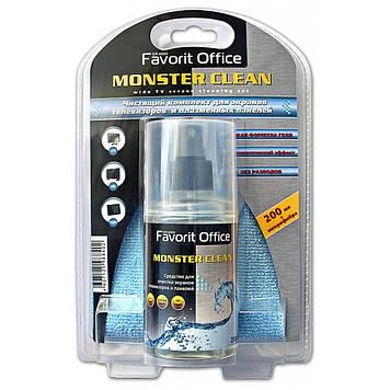 Универсальный чистящий набор FAVORIT Monster Clean 200 мл+МФ 25Х25см (F130213)