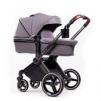 Детская коляска 2в1 Ninos Alba Melange Grey NA2018MG, КОД: 126129