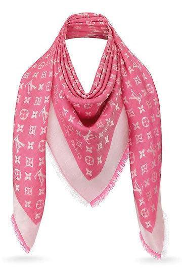"""Женская шальLouis Vuitton Monogram """"Pink"""""""