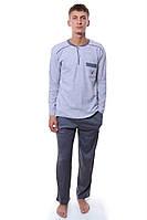 Пижама  100% хлопок серый Falkon все размеры  L