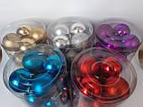 Наборы игрушки на елку шары синий 20 шт 5 см, фото 2