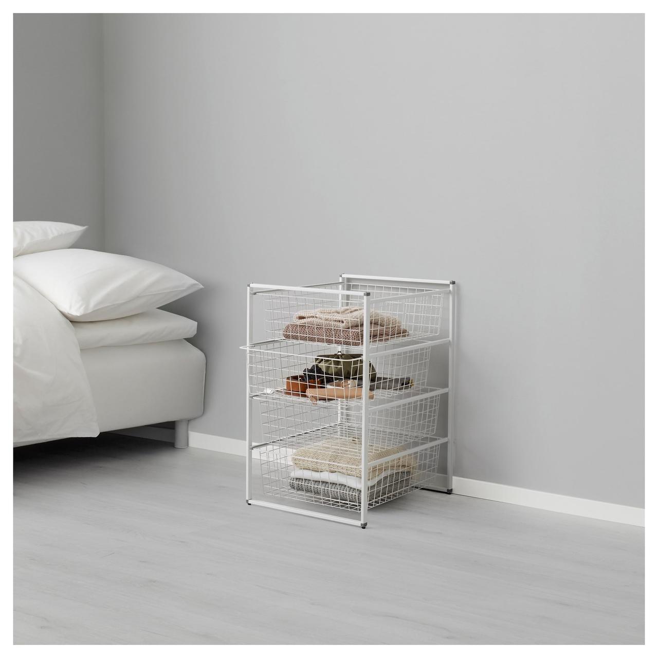 IKEA ANTONIUS Стеллаж с корзинами, белый  (198.764.54)