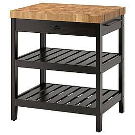IKEA VADHOLMA Кухонний острівець, чорний, дуб (403.661.15)