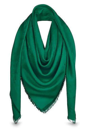 """Женская шальLouis Vuitton Monogram  """"Зеленый"""""""