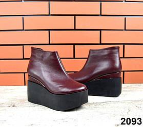 Женские ботинки на платформе, зима, на меху 36-40