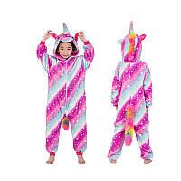 "Детский костюм Кигуруми ""Розовый единорог"""