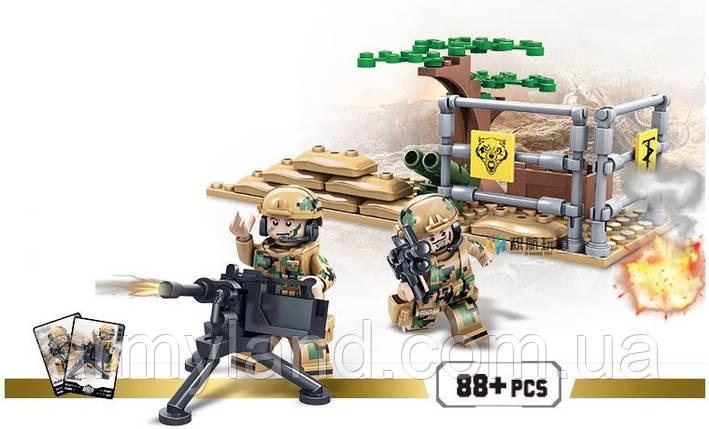 Конструктор военный набор 2, Фигурка  ПУЛЕМЕТНАЯ ТОЧКА , конструктор  (Аналог ЛЕГО), фото 2