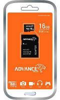 Микро SD карта MSD 16GB Advance / C10 + SD