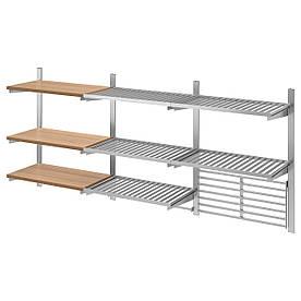 IKEA KUNGSFORS Полки с решеткой и магнитной планкой (592.848.79)
