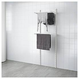 IKEA ALGOT Стеллаж с сушкой для полотенца, белый  (699.038.36)