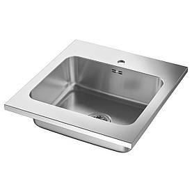 IKEA AMMERAN Одинарна мийка, нержавіюча сталь (591.581.64)