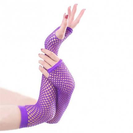 Перчатки без пальцев сеточка (митенки), фото 2