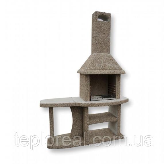 """Уличный камин-барбекю """"Каир"""" с одним столом"""