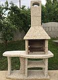 """Уличный камин-барбекю """"Каир"""" с одним столом, фото 2"""
