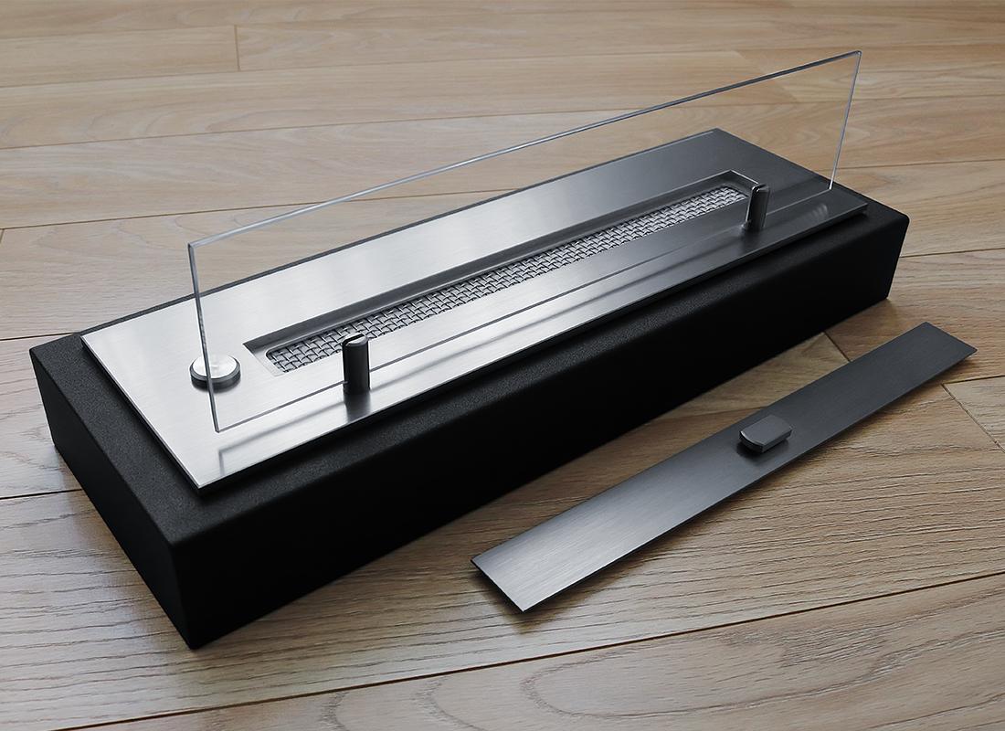 Топливный блок со стеклом Gloss Fire Алаид Style 500-С1-50