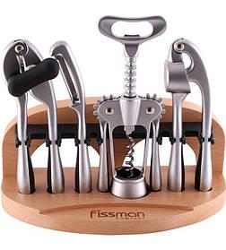 Набор аксессуаров Fissman ORTO 5 предметов на деревянной подставке FN-GT-1504psg, КОД: 178016