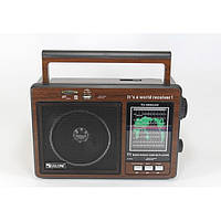 Радиоприемник-колонка MP3 GOLON RX 9966UAR Коричневый, фото 1