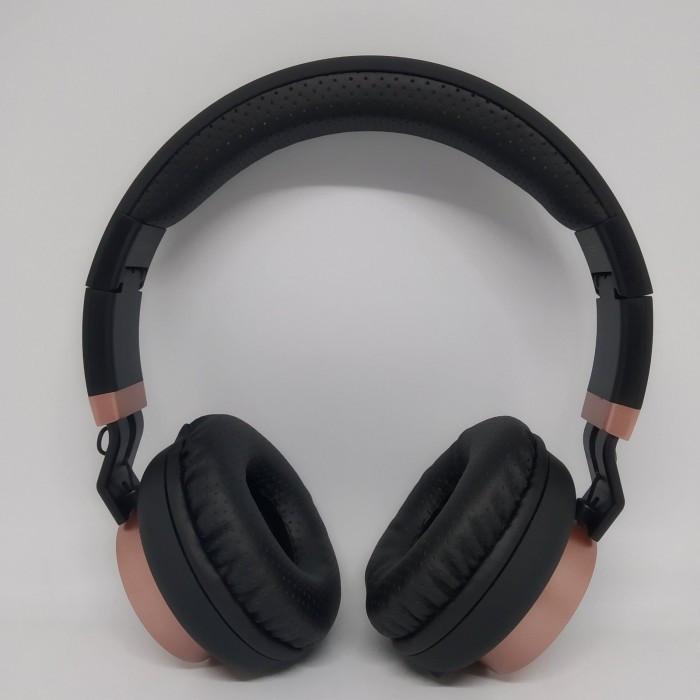 Беспроводные Bluetooth Стерео наушники Gorsun GS-E89 Чёрные с золотым