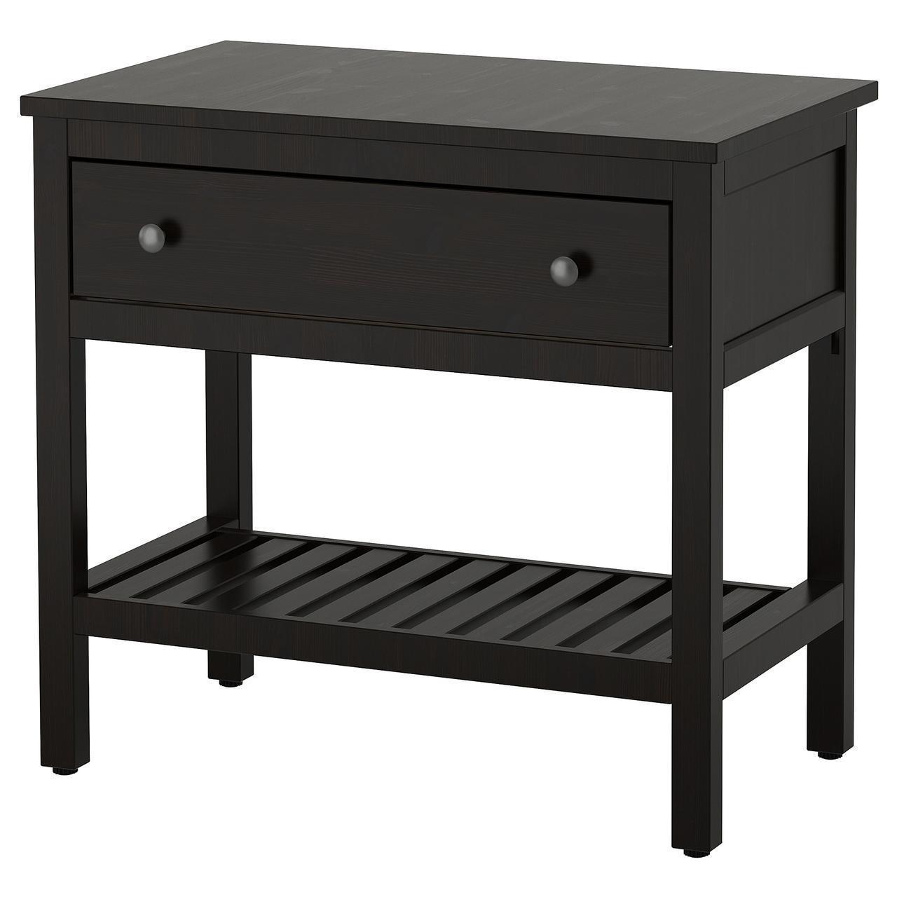 IKEA HEMNES Шкаф под умывальник, 1 ящик, черно-коричневая Морилка  (303.967.02)