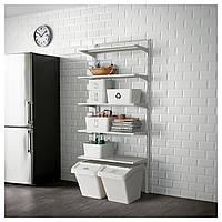 IKEA ALGOT Стеллаж, металлический белый  (590.942.09)