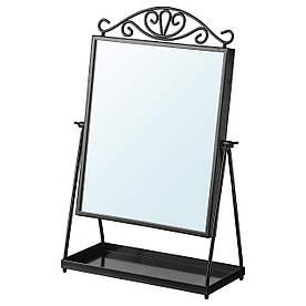 IKEA KARMSUND Настольное зеркало, черный  (002.949.79)