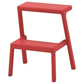 IKEA MASTERBY Табурет-сходи, коричневі, червоні (504.023.25)