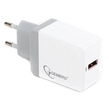 Зарядное устройство GEMBIRD 1 USB QC3.0 (MP3A-UC-AC11)